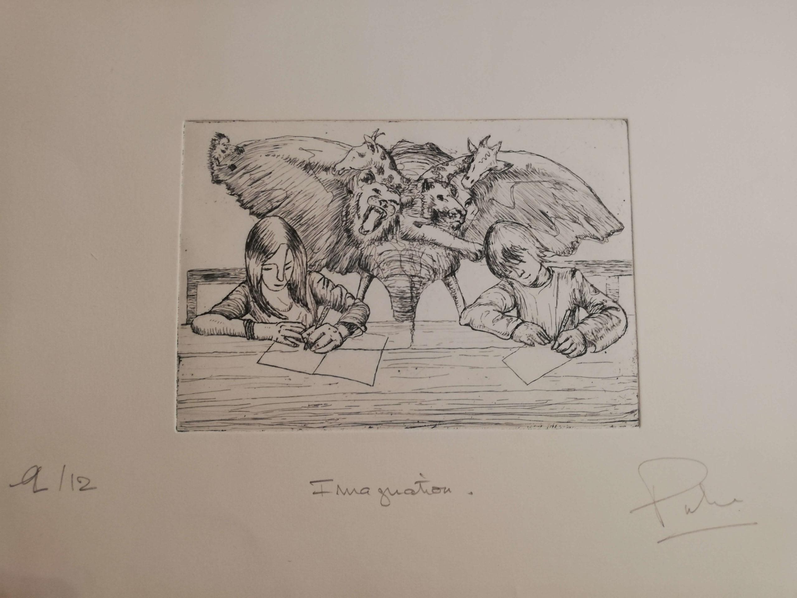 Imagination engrave by Michel Puharré 2014