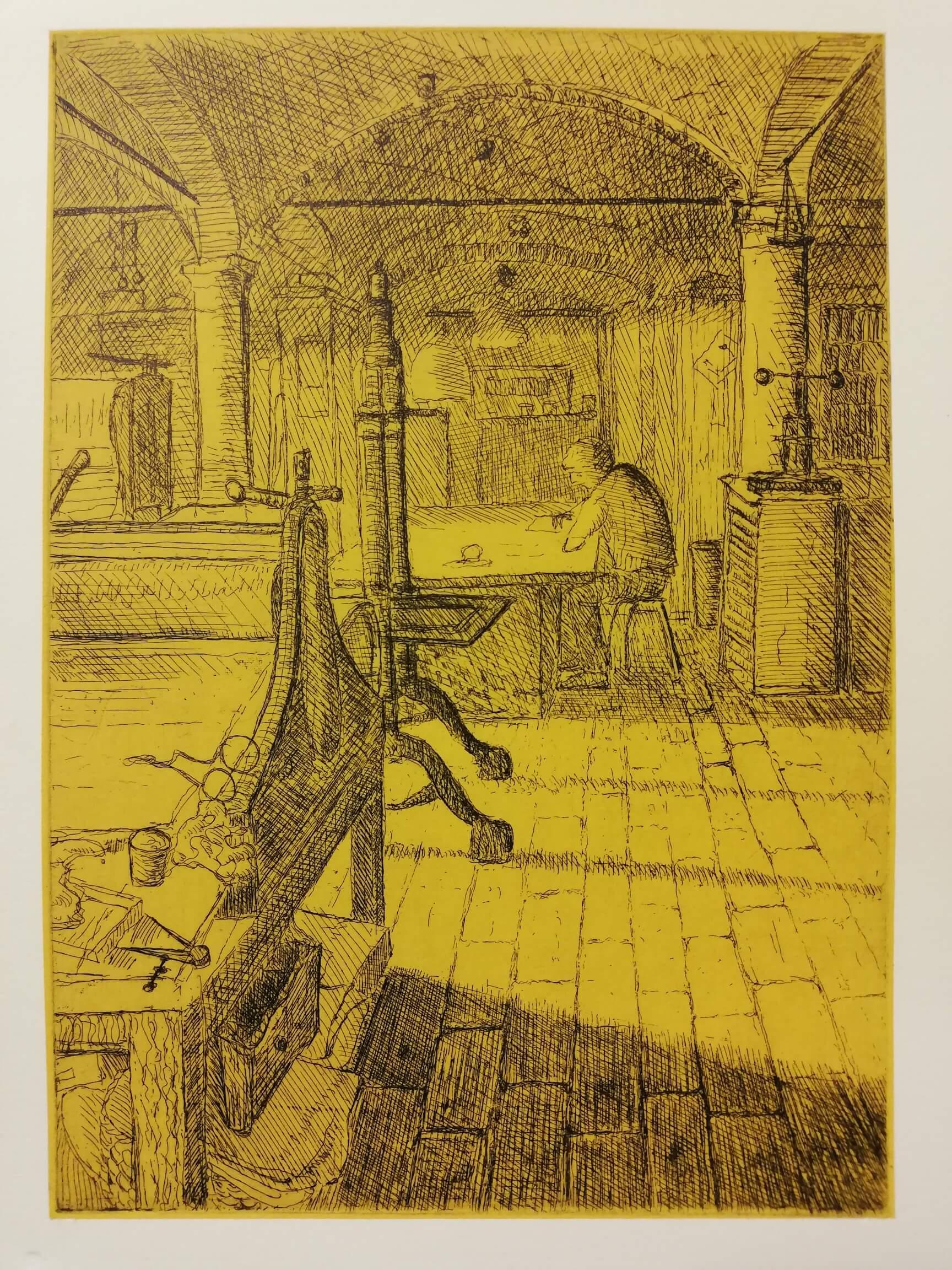 L'atelier Beuchat jaune engrave by Michel Puharré 2019