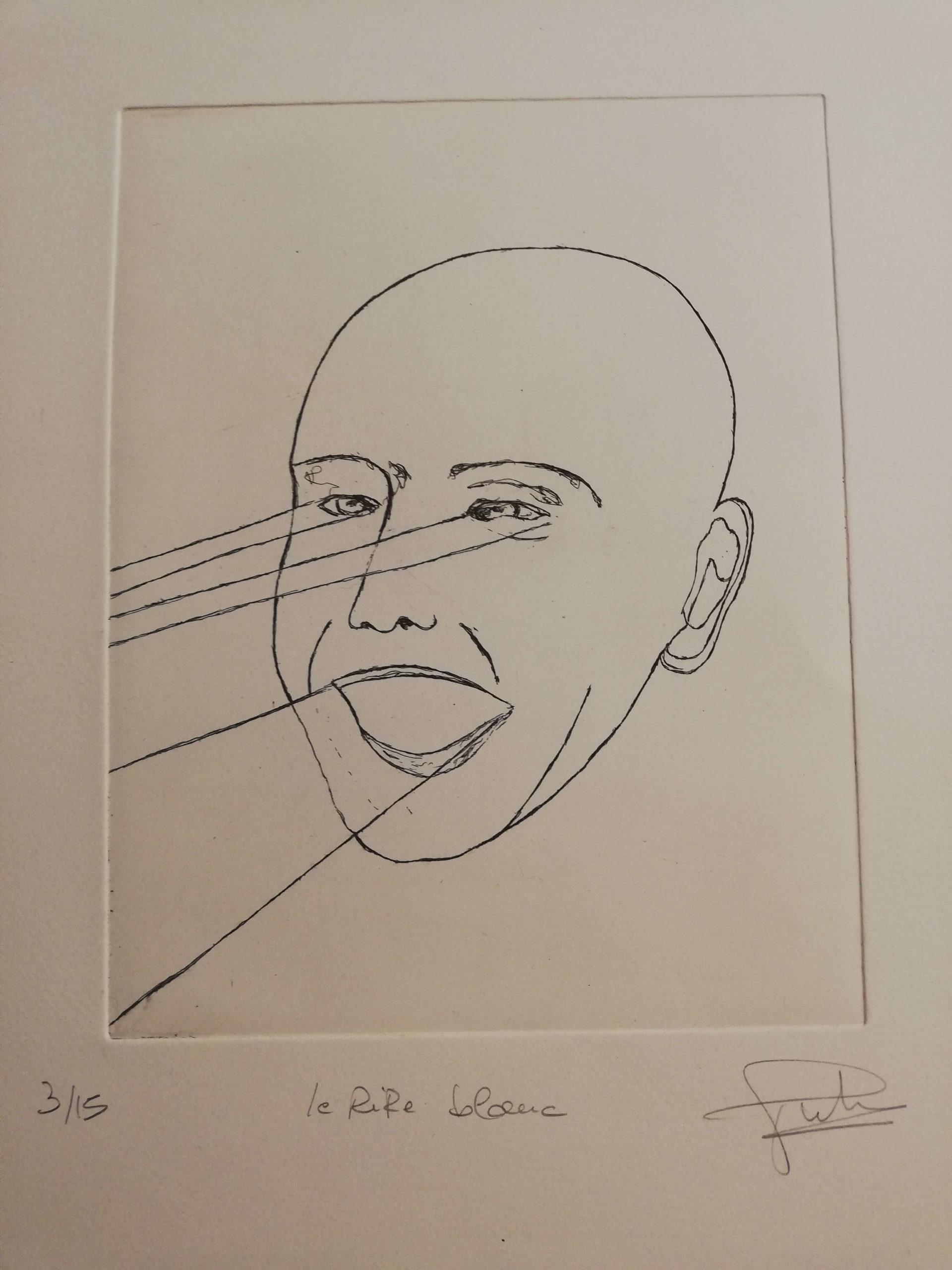 Le rire blanc engrave by Michel Puharré