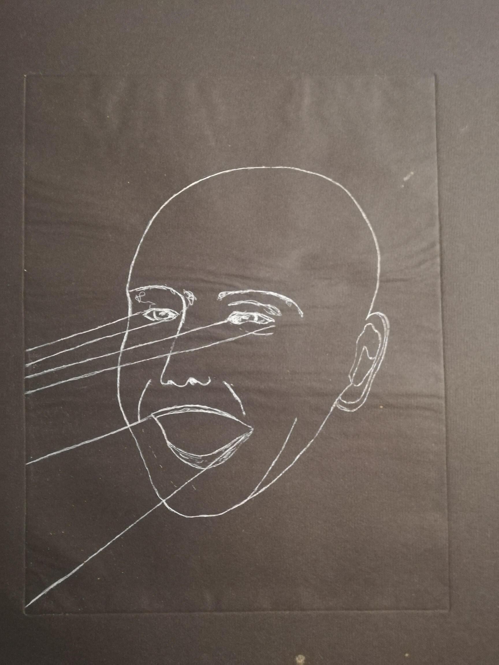Le rire noir engrave by Michel Puharré